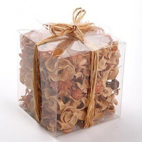 Set of potpourri in box - brown