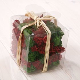 Set of potpourri in box - red-green Christmas