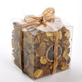 Set of potpourri with candle - lemon