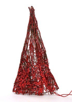 Shined Christmas tree of glittered twigs, 40 cm