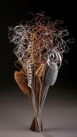 Silver-gold bouquet, 50-60 cm high