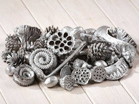 Silver set of dried plants