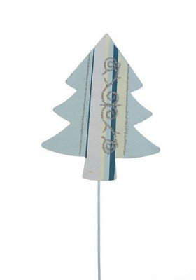 Sky-blue Christmas tree on stick 9/32 cm