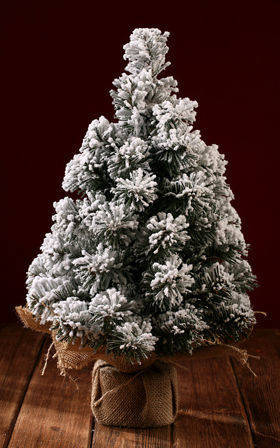 Snowy Christmas tree - 45 cm