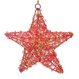 Star with crystals, hanger 12 cm