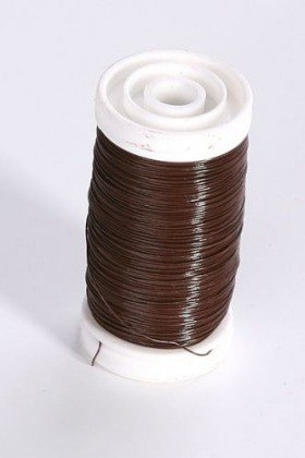 Steel wire on spool 100 g - brown