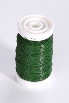 Steel wire on spool 100 g - green