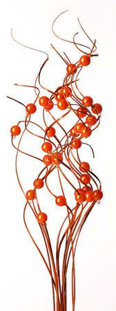 Ting ting, orange with pearls, bunch, height 40 cm.
