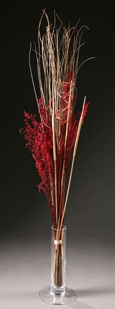 Tuft of natural grasses with claret elements ca.40-50cm
