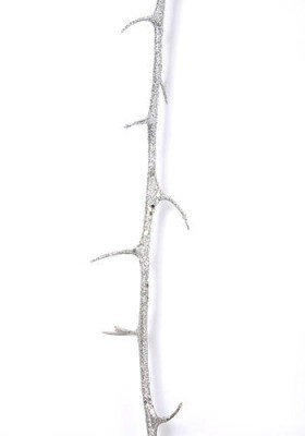 Twig with thorns silver 107 cm