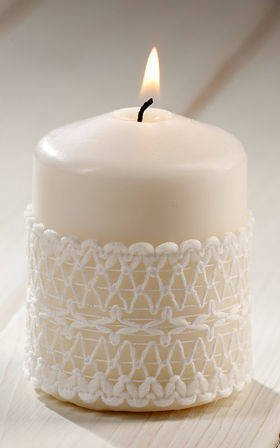 White candle 55/80 mm