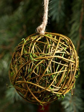 Wicker ball 6 cm - natura