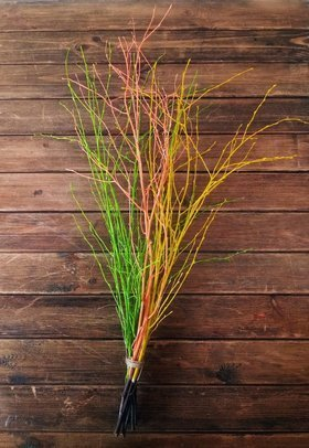 Willow twig silver 100 cm