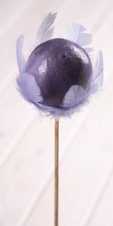 Wooden ball on stick 8/45cm, purple