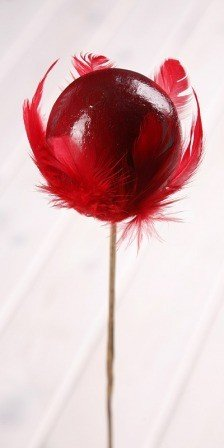 Wooden ball on stick 8/45cm, red