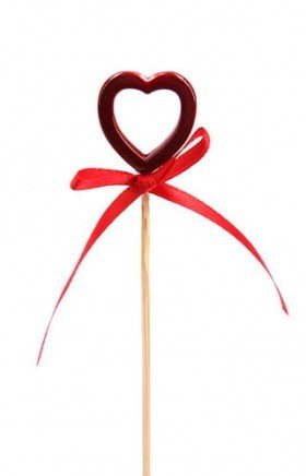 Wooden heart with ribbon 18cm