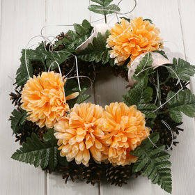 Wreath 35-40 cm orange