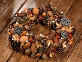 Wreath- Treasures of forest ca.35cm