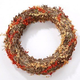 Wreath of dried grass 25 cm
