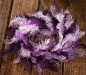 Wreath of feather purple 20-25cm