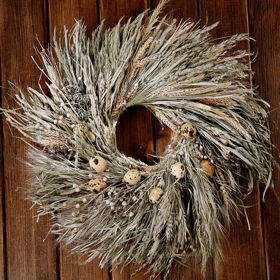 Wreath of grass, quail eggs, 30-40 cm