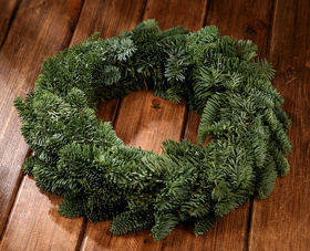 Wreath of spruce conifer needles 30cm