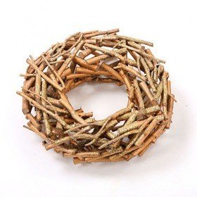 Wreath of sticks, gold-plated 30 cm