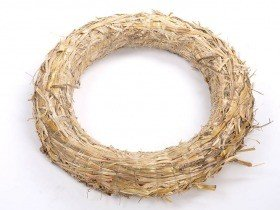 Wreath of straw 25 / 4 cm 10 pcs