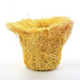 Yellow basket 13/13cm