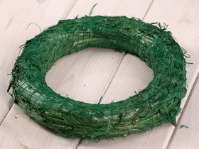 wreath 25 cm green