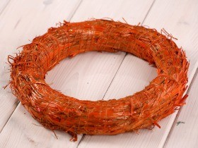 wreath 25 cm orange
