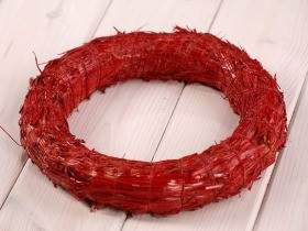 wreath 25 cm red