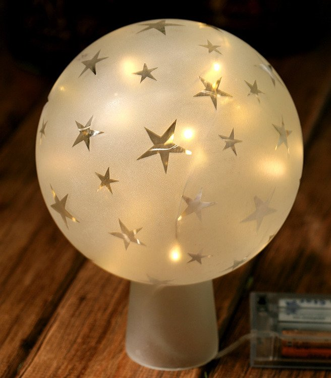 Ball, shining stars White