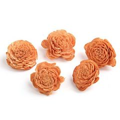 Belly flowers, 3 cm, 24 pcs/pkg - brown