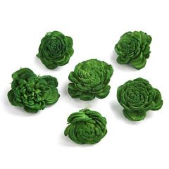 Belly flowers, 3 cm, 24 pcs/pkg - green
