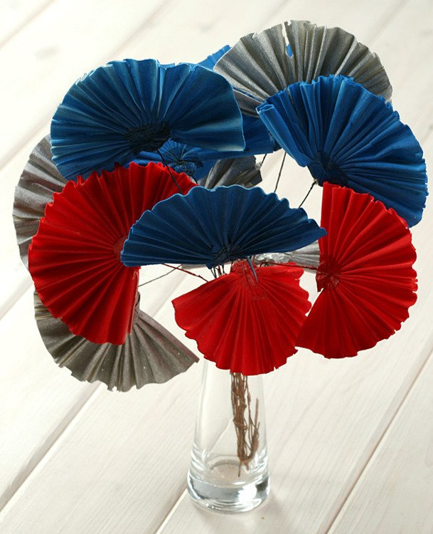 Blue-Red-Silver Sola Set