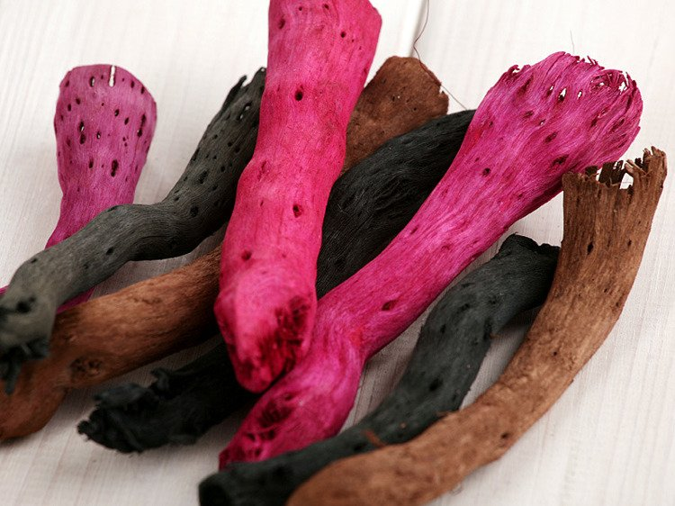 Brown-Black-Fuchsia Roots 9pcs./pack