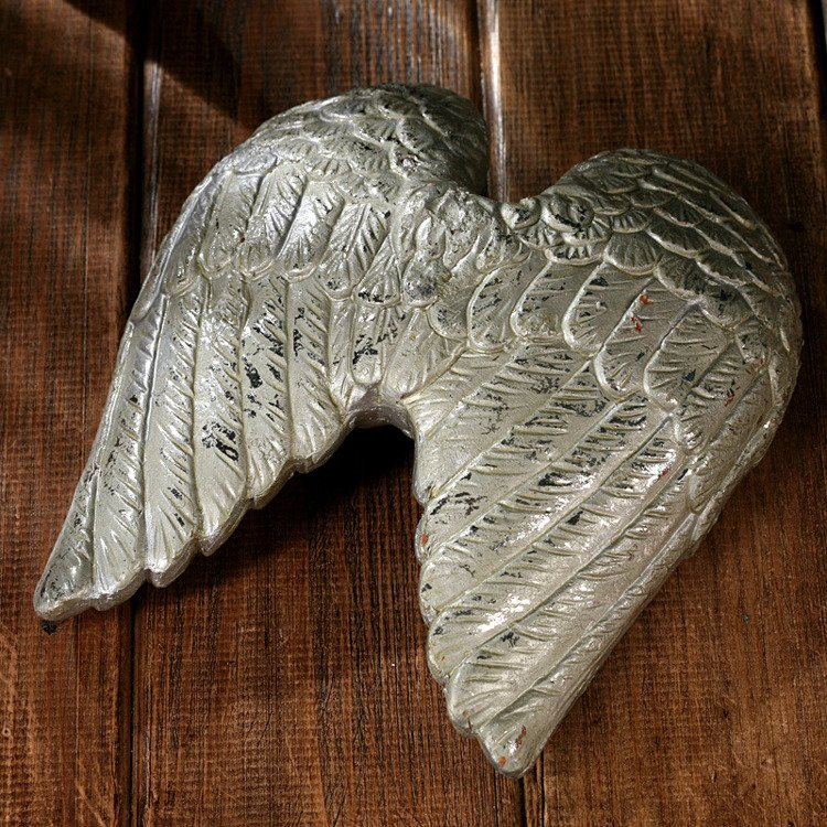 Ceramic angel wings 18x16cm