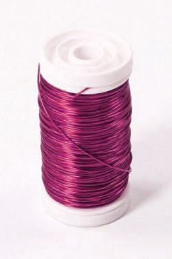 Copper wire on spool 100g - bright pink