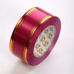 Decorative band 30mm with stripe 45m - claret