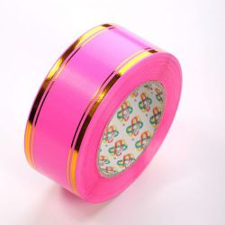 Decorative tape 50 mm, colourful with a stripe, length 45 m - BS09
