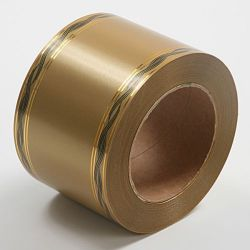 Decorative tape (Plastiflora) width 80 mm length 45 m, gold, with gold stripe