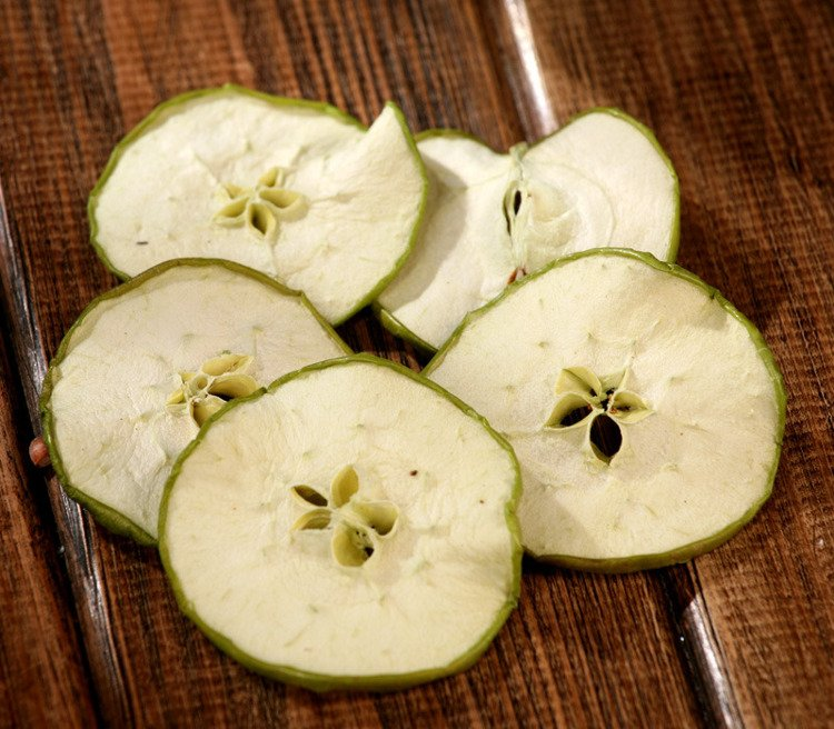Dried apple slices 20pcs/pkg green