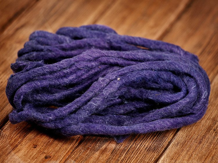 Felt string navy blue- purple 150cm