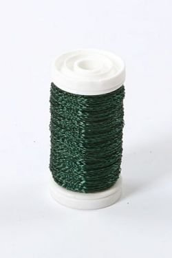Floral copper wire, on spool, 75g - dark green