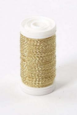 Floral copper wire, on spool, 75g - gold 70-80 m