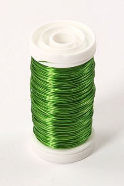 Floral copper wire on spool 75g - green apple
