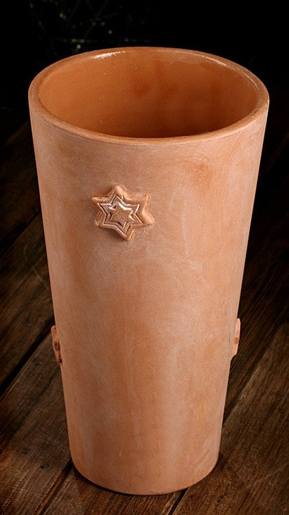 Flower pot with stars natural 17/30 cm
