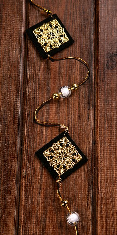 Garland with decorative gold&black rhombus lenght:150cm