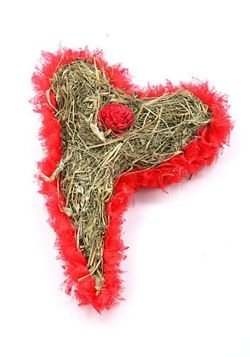 Heart of hay red 20/30 cm